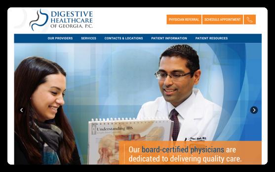 Digestive Healthcare Website