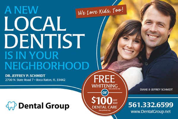example of call tracking for a dental group print campaign