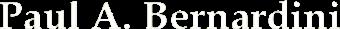 Bernardini Logo White