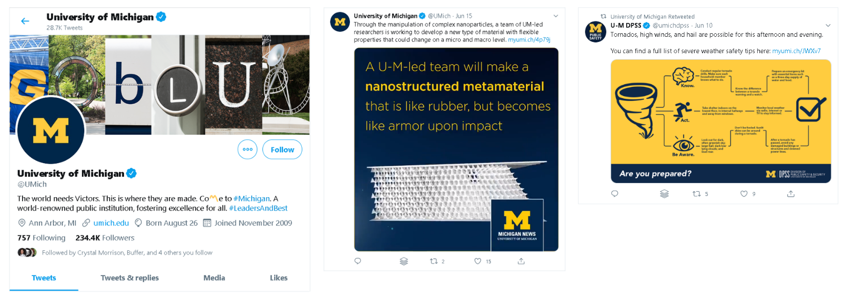 example of effective social media marketing for a university