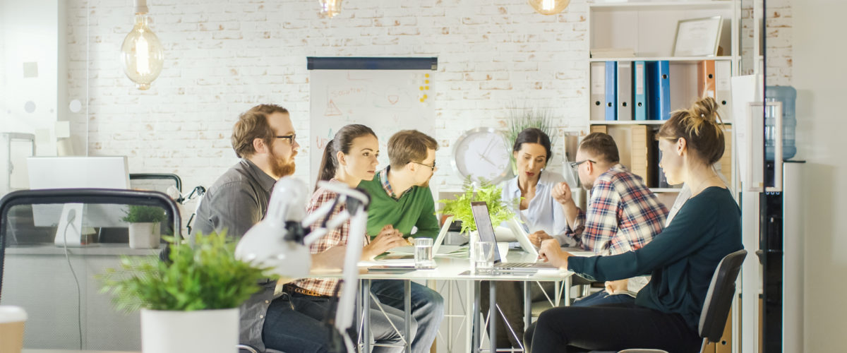 Digital Marketing Agency Working at Meeting