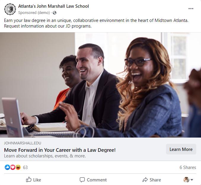 JM School Facebook Ad