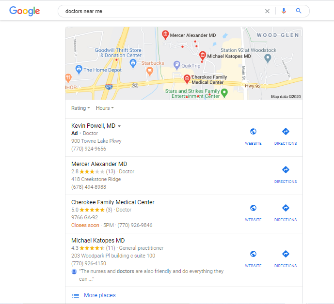 Google Ads using geotargeting