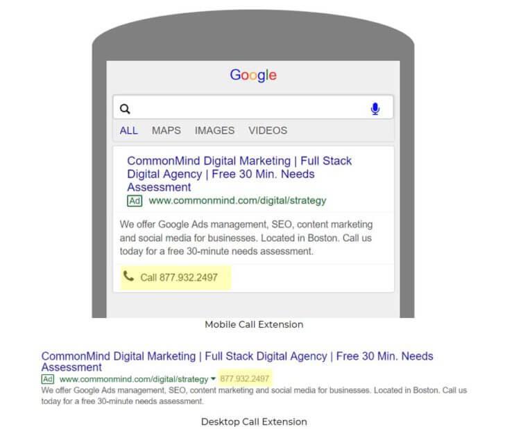 google ad extensions improve CTR