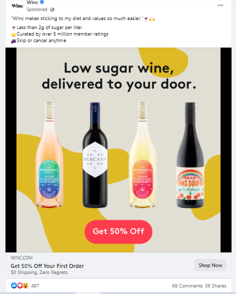 facebook ad using a custom email audience