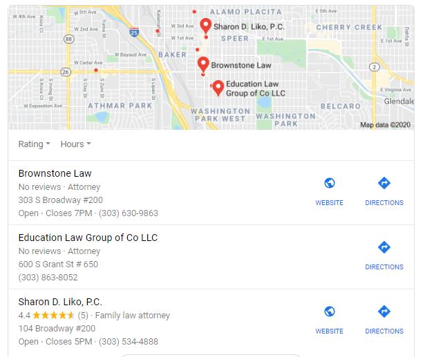 Use local SEO through local search