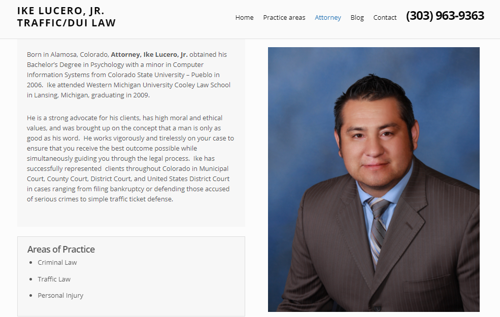 Optimize user experience on lawyer about page