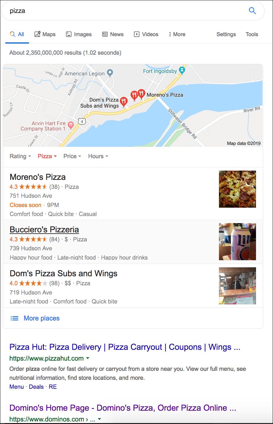 semantic search for pizza