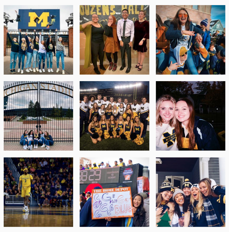 University of Michigan Social Media Page