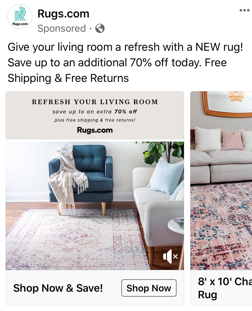 Targeted Facebook Ad for ecommerce