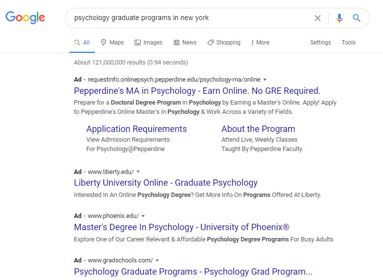 Higher Ed PPC campaigns