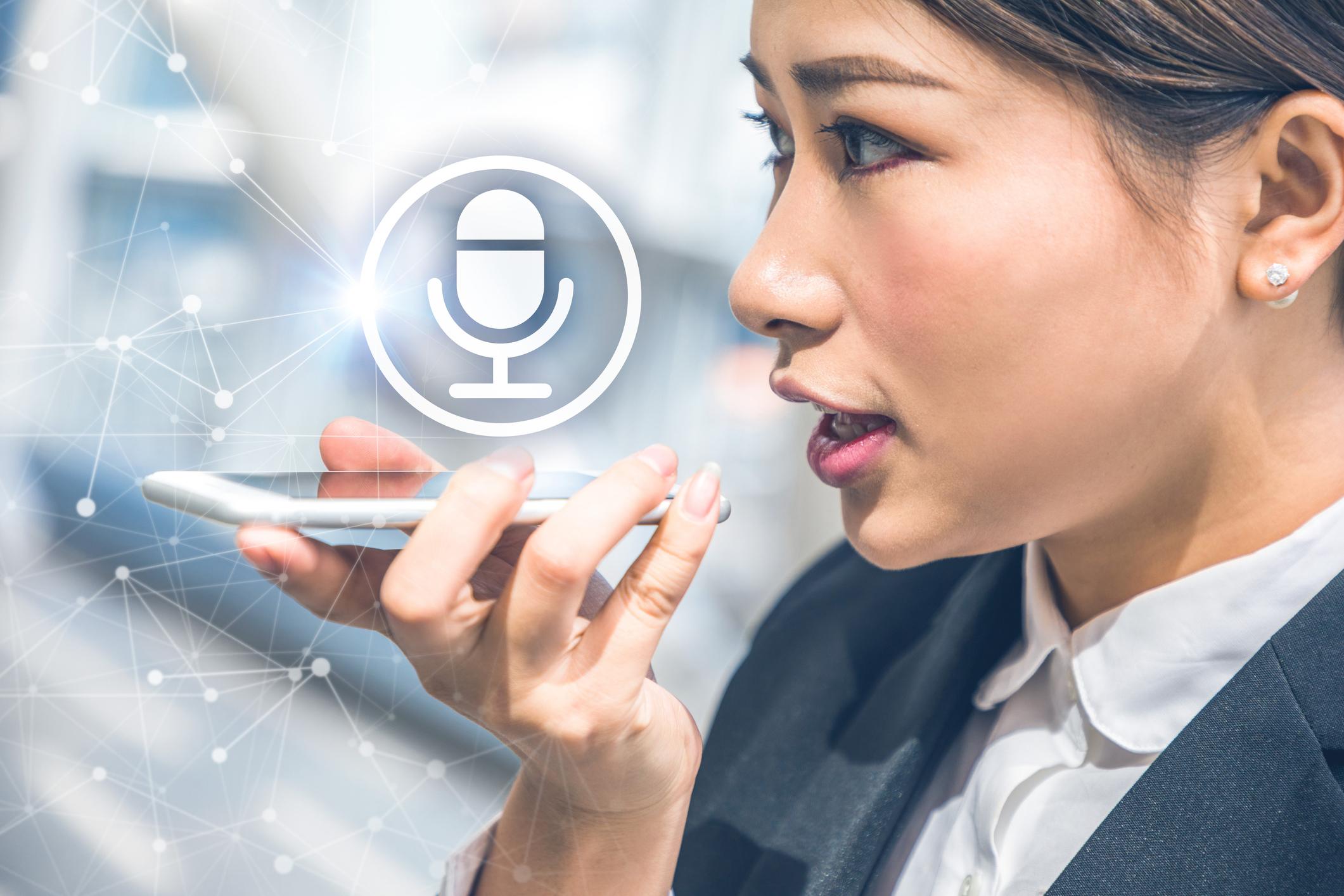 search query through voice device