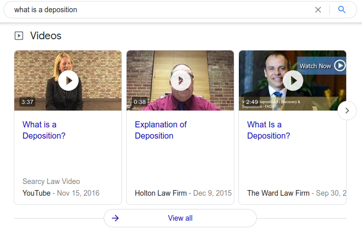 Google's increase of emphasis on video