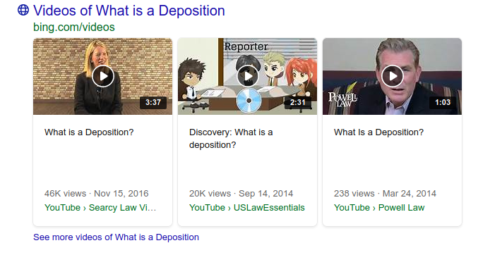 Google's emphasis on video