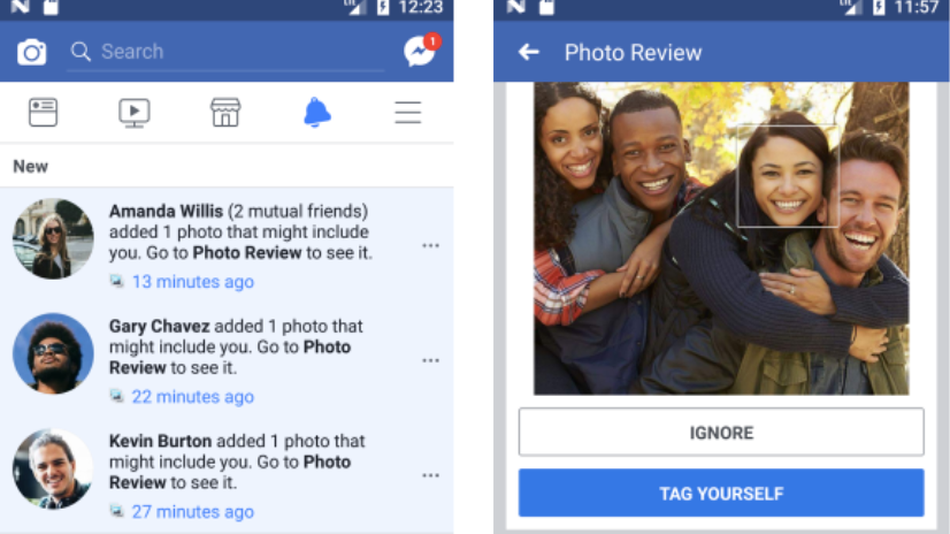 facebook face recognition uses AI to match patterns