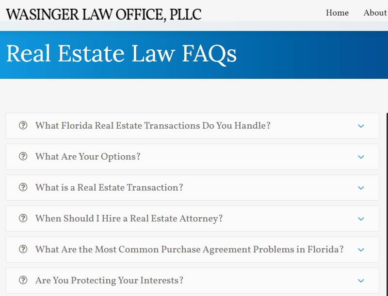 Real Estate FAQ