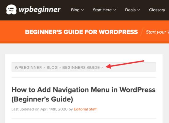 Adding Navigation to Website