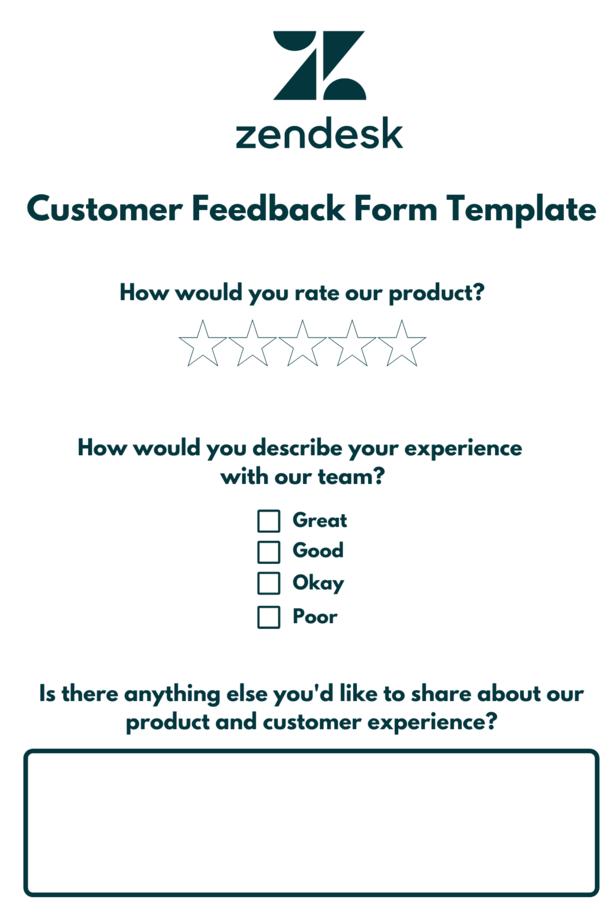Customer feedback form for digital reputation