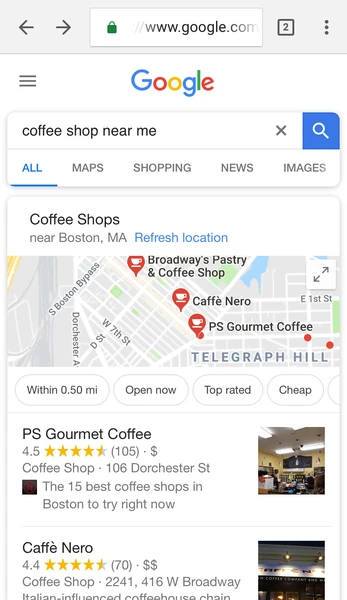 google my business is a local seo ranking factor