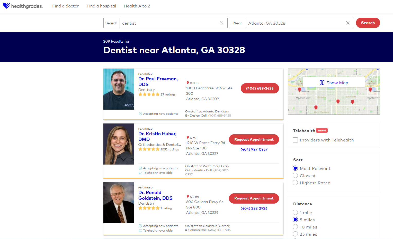 Healthgrade for dentists