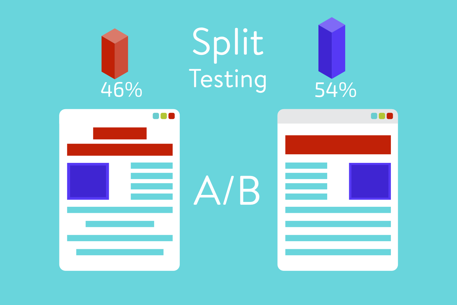 Create split tests on your higher ed facebook campaigns to see which one performs better