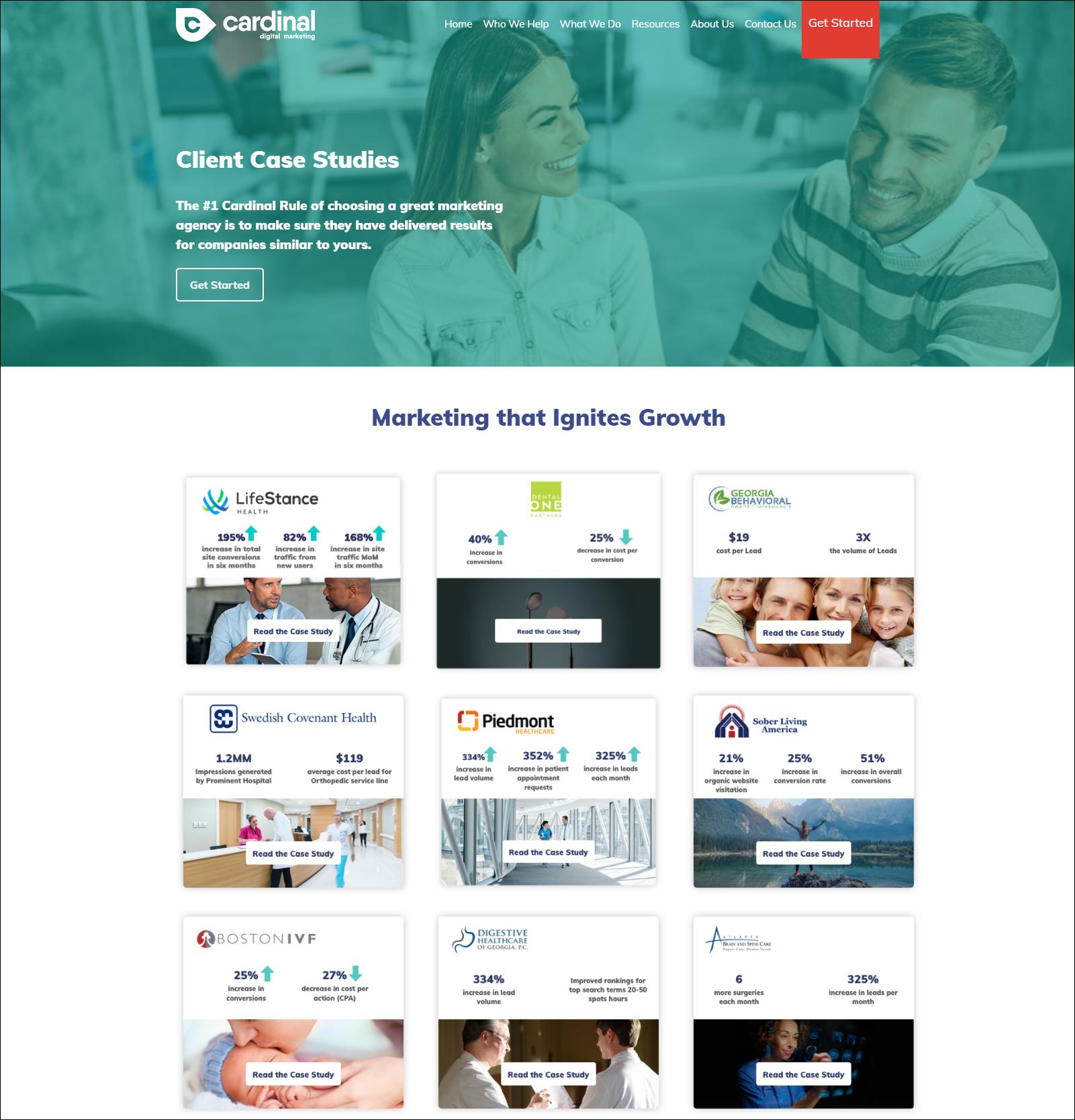 healthcare marketing case studies