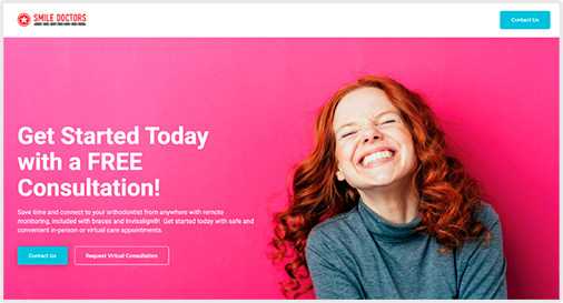 Dentist Landing Page Example One