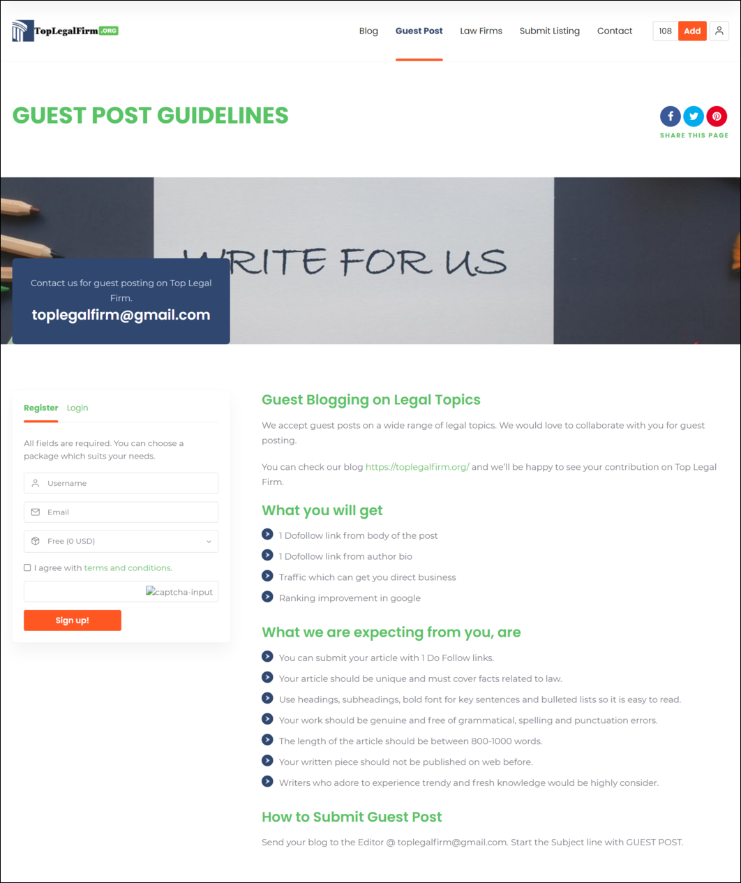 Guest Post Instructions
