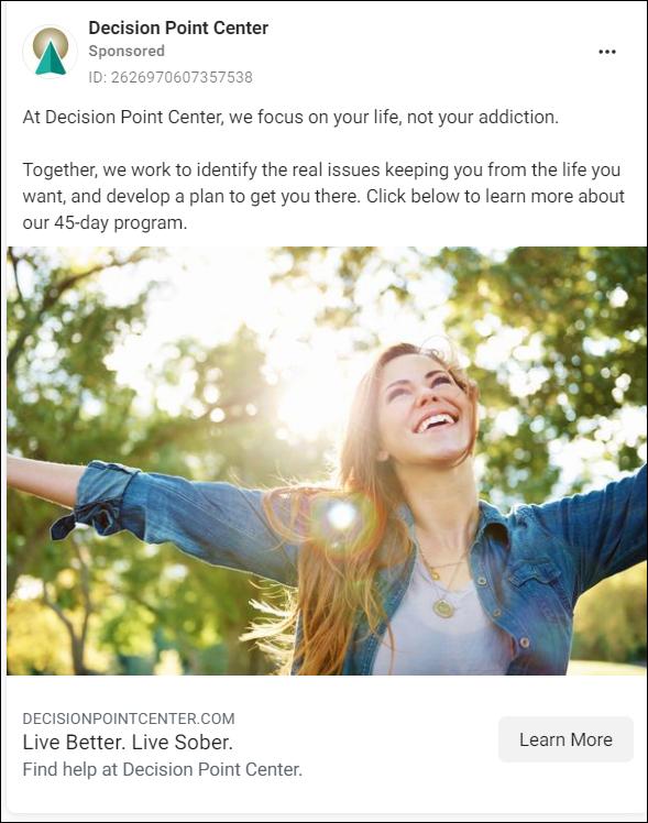 Solution aware Facebook Ad