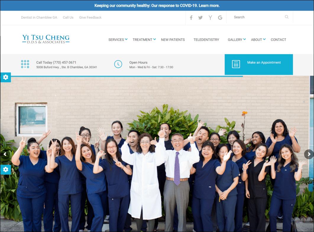 Optimized Dental Website