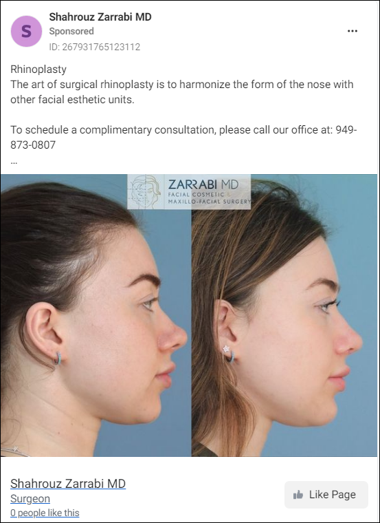 Plastic Surgery Before and After Pictures for Facebook Ads