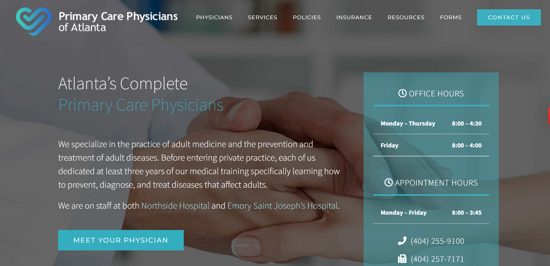 Website Health for private equity firm acquisition