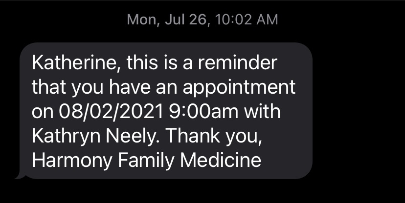 Personalized Appointment Reminder