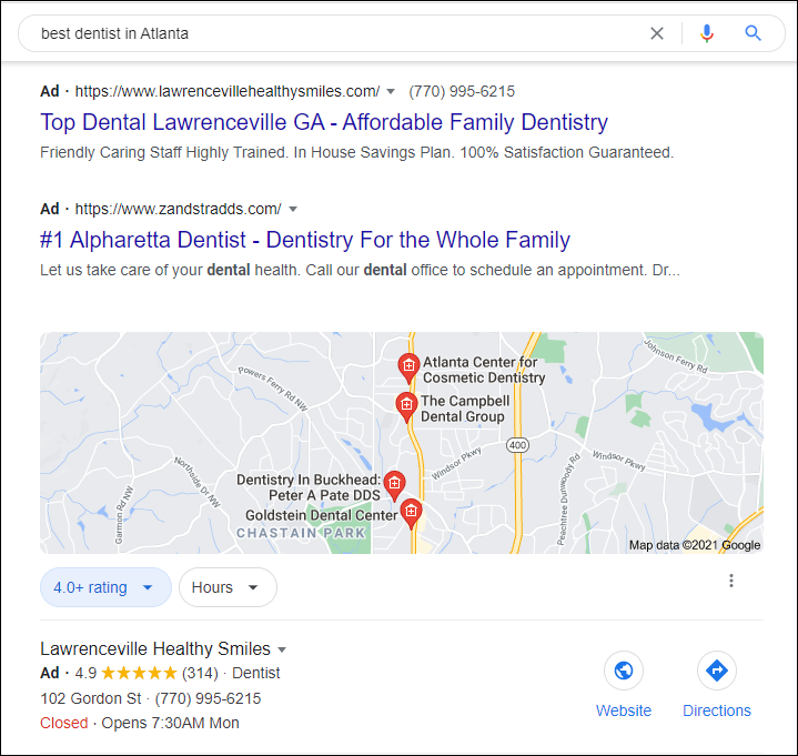 PPC Search Ads for Dentists and DSOs