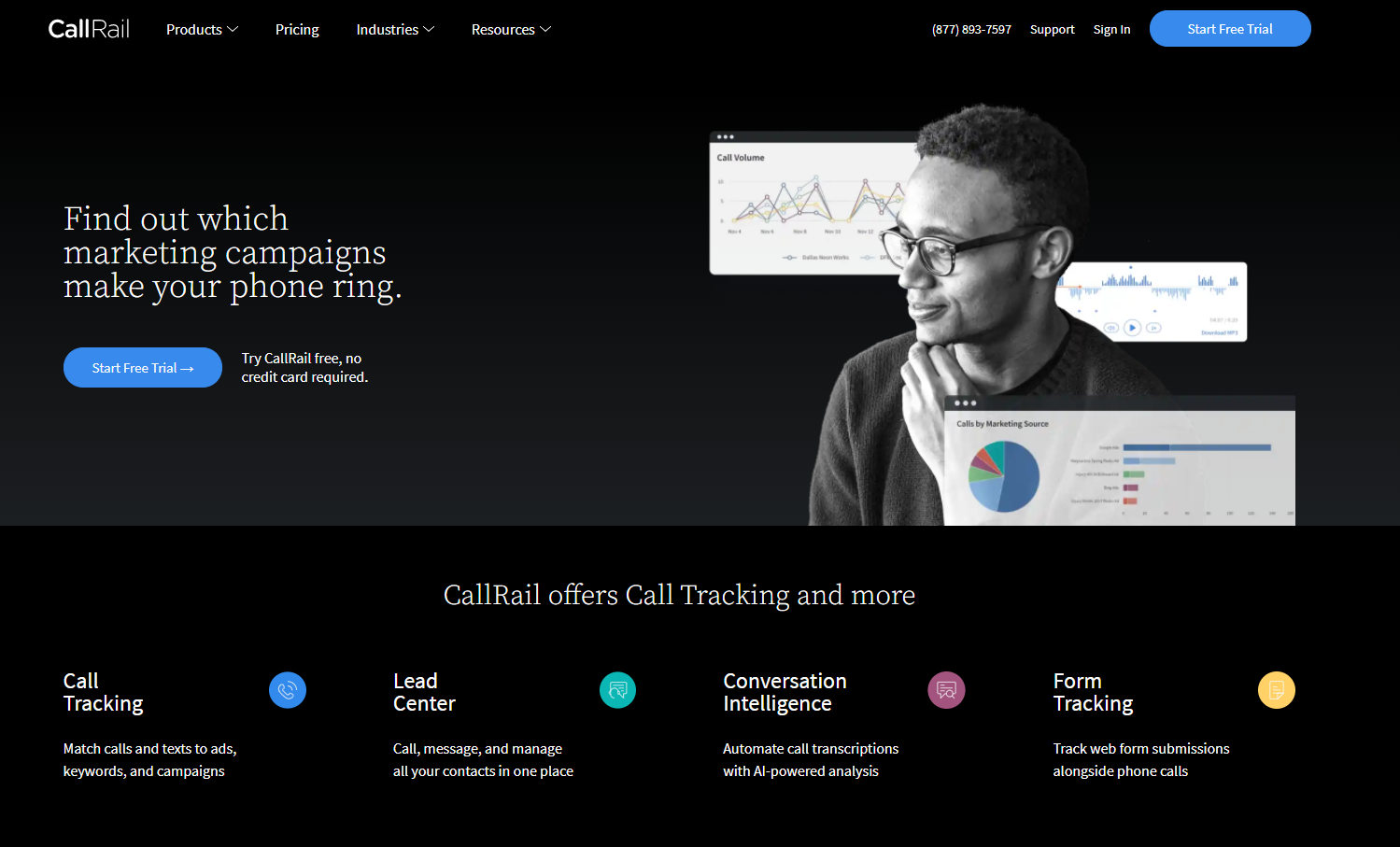 Bring all the call data, analysis, and insights into one place like Call Rail