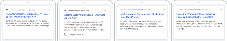 HCA digital marketing adwords campaign