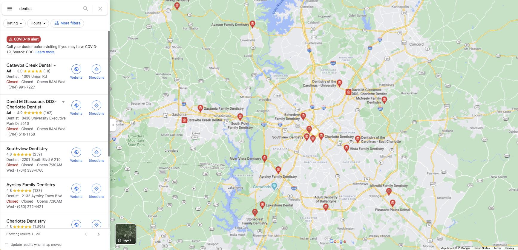Multi-location Dental Groups in Charlotte