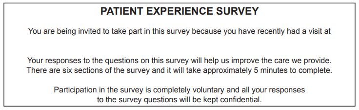 Survey your patients to learn insights