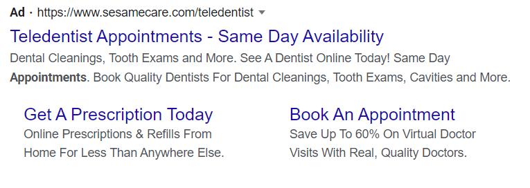 teledentistry google ad